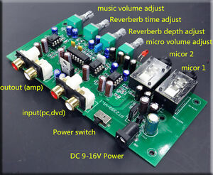 DC12V-PT2399-Karaoke-Reverberation-Board-Delay-Time-JRC5532-OP-AMP-Pre-Amplifier