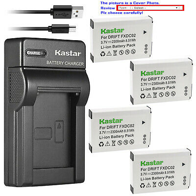 2-Pack BC-CSN work with Sony Cyber-shot DSC-QX10,DSC-QX100,DSC-T99,DSC-T110,DSC-TF1,DSC-TX5,TX7,TX9,DSC-TX10,DSC-TX20,DSC-TX30,DSC-TX55,DSC-TX66,DSC-TX100V,DSC-TX200V,DSC-W310,DSC-W320,DSC-W330,DSC-W350,DSC-W360 and Charger Kit for NP-BN1 Kastar Battery