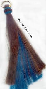 Horsehair Shoo Fly, 2 layers thick, Cinnamon-Turqu