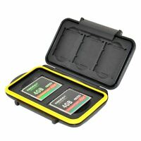 Jjc Mc-xqdcf5 Waterproof Memory Storage Case Protector For 3 Xqd + 2 Cf Cards