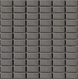 Black-Brushed-Stainless-Steel-Mosaic-Wall-Tiles-Bathroom-Kitchen-Shower-MT0040
