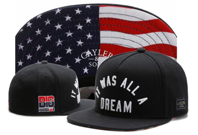 Hip Hop Men's CAYLER Sons Hat adjustable Baseball Snapback Black Street cap 1#