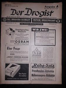 zeitschrift der drogist dezember 1943 heft 50 51 ausgabe a werbung parfum creme ebay. Black Bedroom Furniture Sets. Home Design Ideas