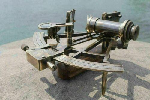 "Brass 8/"" Sextant Antique Nautical Marine Navigational Astrolabe Instrument Gift"