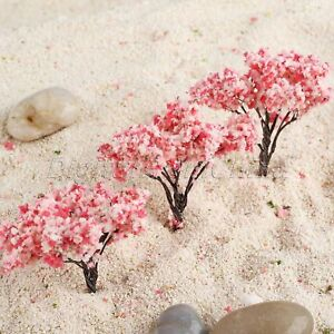 20x HO OO Échelle Cherry Blossom Modèle Arbres Paysage Agencement Decor 65mm FR