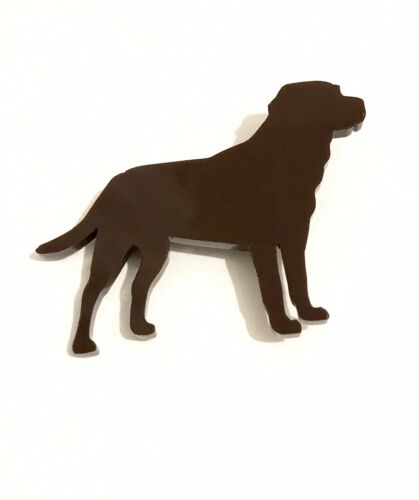 Labrador//lab Brooch In Chocolate Brown