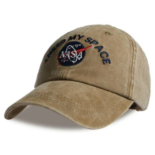 Embroidery Drake Hat Baseball Caps Dad Son Hats CAP I NEED MY SPACE NASA Pattern