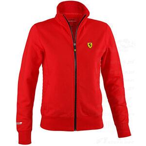 Ferrari Scuderia Zip  F1 Damen Jacke Sportjacke Jacket rot Baumwolle NEU