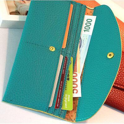 Women Envelope Purse Credit Case Card Holder Hand Bag Hot 7 Colors Wrist Wallet