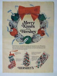 1976 Magazine Advertisement Page Hersheys Kisses Candy Christmas