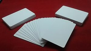 image is loading 50 x cr80 30mil white blank pvc plastic - Blank Plastic Cards