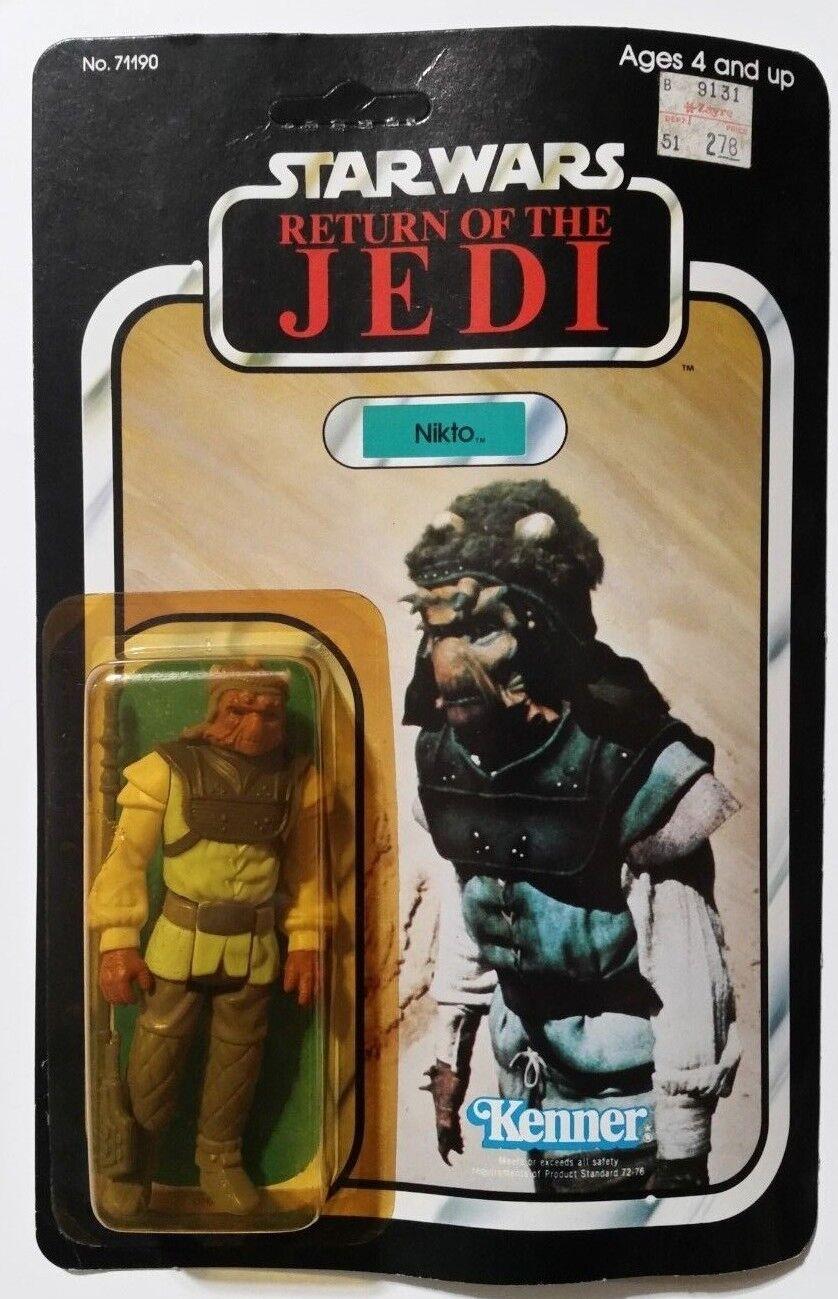 estrella guerras Return Of The Jedi Nikto 77 back 1983 71190 unpunched