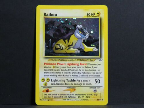 Near Mint Raikou 13//64 Neo Revelation Pokemon Card