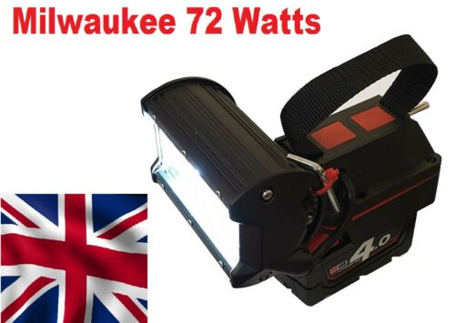 Milwaukee 18v LED work light Torch with a massive 72 watts of power