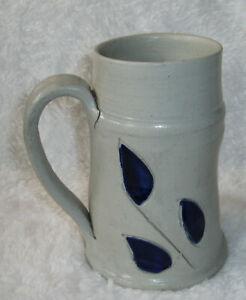 Williamsburg-Pottery-Mug-Saltfired-Blue-Handmade