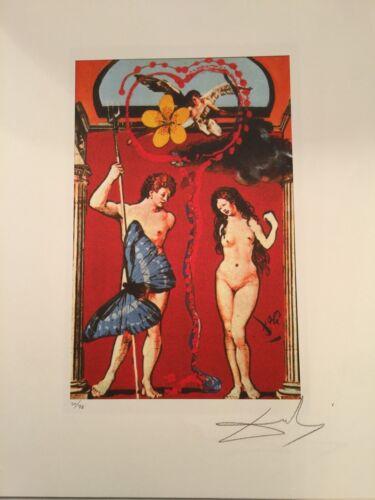 Salvador Dali Litografia I Tarocchi 50 x 65 Canson edizione HOME DALI DA70