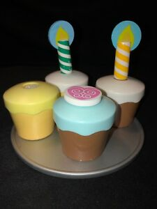 Details About Lot Of Melissa Doug Wooden Play Kitchen Food 4 Cupcake Set Free Shipping