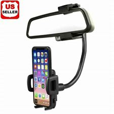 Universal 360 Car Rearview Mirror Mount Stand Holder Cradle For Cell Phone Gps
