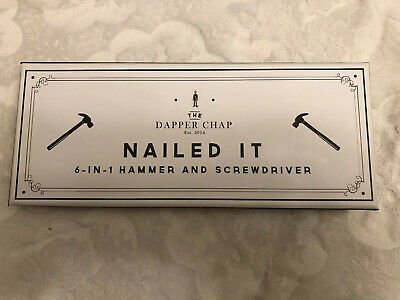 ART344 Dapper Chap Nail It 6 in 1 Hammer /& Screwdriver
