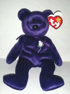 1997 PRINCESS TY Beanie Baby Teddy Bear - Diana Princess of Wales ... 2e8b6dc7332f