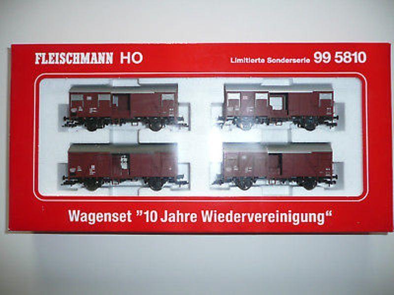 Fleischmann 99 5810-SOS 1999, 10 anni di riunificazione, 4 carri-Nuovo/Scatola Originale