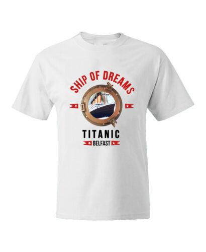 Titanic Hommes Vêtements T-Shirt RMS Blanc Étoile Évasé Envoi de Rêves Haut Pull