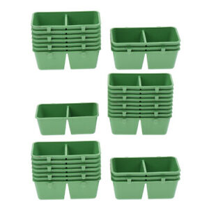 30x  Parrot Food Water Plastic Bowl Cups Bird Pigeons Pet Cage Feeder Feeding