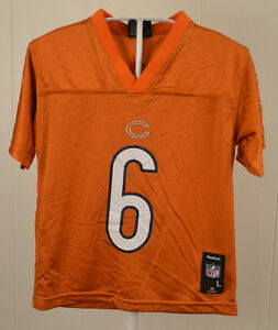 4548f7d78 Reebok Chicago Bears Jersey Jay Cutler  6 NFL Football Kids Large 7 ...