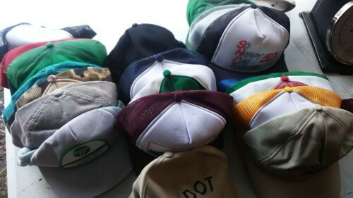 VINTAGE LOT OF (23) BASEBALL CAPS TRUCKER HATS - image 1
