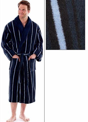 Mens Coral Fleece 100/% Polyester Lounge Wear Kimono Wrap Dressing Gown Robe