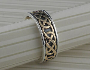 Sterling Silver 10K Celtic Love Knot Wedding Ring KEITH JACK
