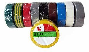 10x-SCAPA-PVC-Isolierband-2701-Bunt-15mm-x-10m-Iso-Band-Adhesive-Isoband-MwSt
