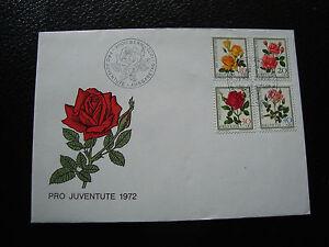 Switzerland-Envelope-1er-Day-1-12-1972-yt-N-914-A-917-cy25-Switzerland