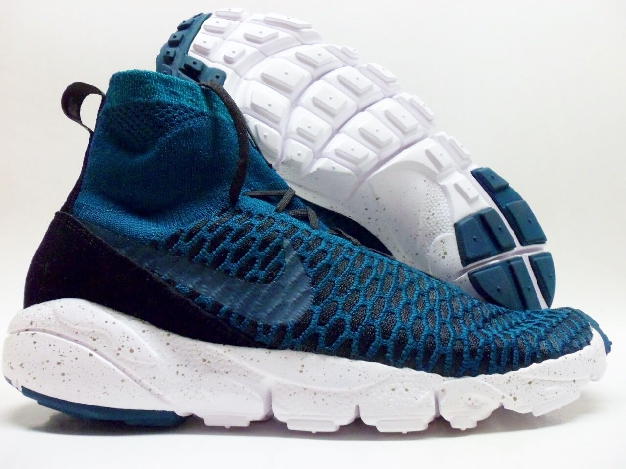 NIKE AIR FOOTSCAPE MAGISTA FK FC FLYKNIT TURQUOISE SIZE MEN'S 11 [830600-300]
