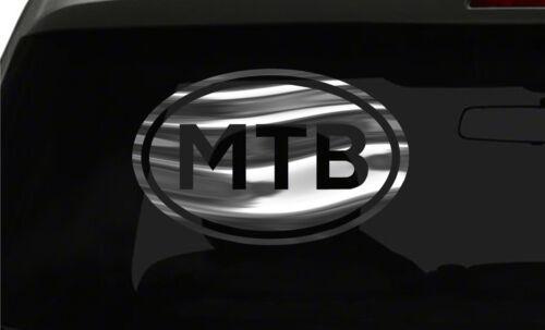 MTB Sticker Mountain Bike oval euro all chrome /& regular vinyl color choices