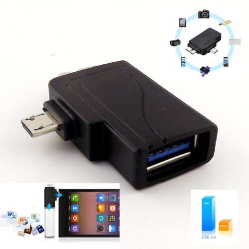 Micro USB 3.0 2.0 Male 2 In 1 To USB 3.0 Charger OTG Host Adapter For Samsung S5