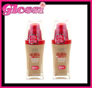 LOT-6-X-LOREAL-INFALLIBLE-18HR-HOUR-FOUNDATION-LIQUID-MAKEUP-607-CREAMY-NATURAL