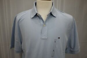 TOMMY-HILFIGER-Men-039-s-Short-Sleeve-Blue-Polo-Shirt-size-L-New