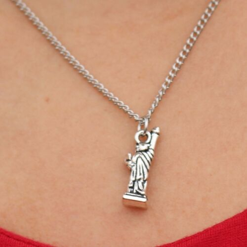 Silver Statue of Liberty Necklace Chain Pendant Alloy USA America NEW YORK Gift