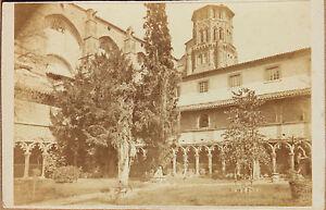 Chiostro-Di-Agostiniani-Tolosa-Francia-CDV-Vintage-Albumina-Ca-1870
