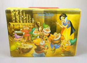 Schneewittchen-und-die-sieben-Zwerge-Kassettenkoffer-ohne-Inlett-Disney-Vintage
