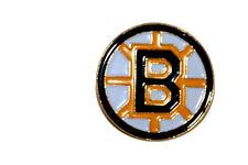 "BOSTON BRUINS NHL LOGO METAL PIN BADGE ..SIZE : 1"" X 1"" INCHES CIRCLE SHAPE..NEW"