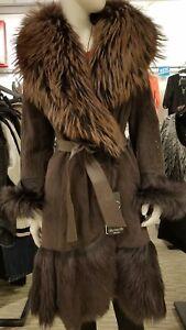 New-Genuine-Viva-Dolce-Vita-Goat-Fur-Coat-Free-Shipping