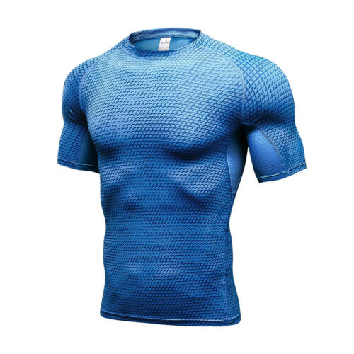 Men/'s Compression Shirt Workout Bottoms Shorts Moisture Wicking Quick-dry Tights