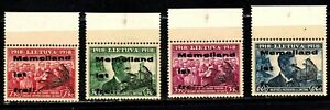 Memel stamps #306 - 309, MNHOG, XF, 3rd Reich Liberation, selvage, SCV $100.00