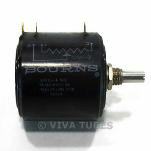 Vintage Bourns 3400S-1-502 Precision Potentiometer 5000 ohm Resistance Audio