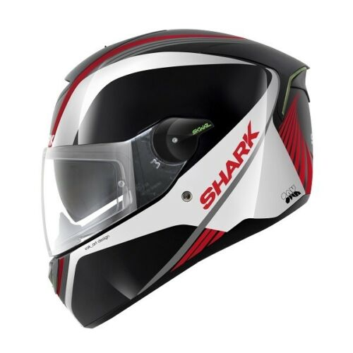 Shark SKWAL Spinax Full Face Sports Motorcycle Helmet Black White Red