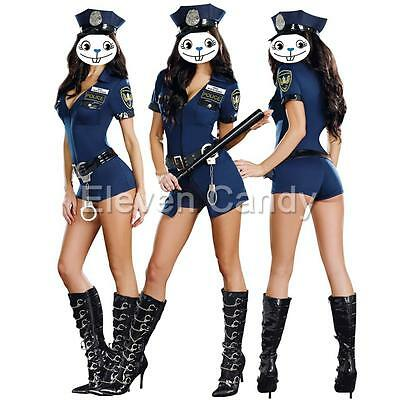 Sexy Women Police Cop Officer Costume Fancy Dress Ladies Halloween Party Cosplay