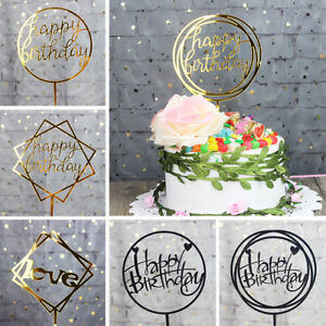 Miraculous Acrylic Happy Birthday Cake Topper Decoration Pick 17 Styles Gold Funny Birthday Cards Online Eattedamsfinfo