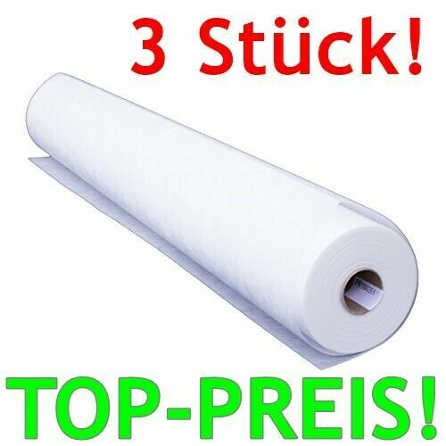 3x Glasfaservlies 50x1m TAPETE Renovierung Anstrich glatt weiß 50x1m 130g//m²